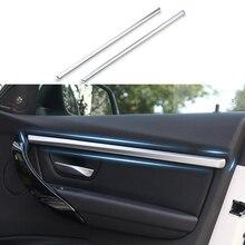 4 шт. красный/серебристый/синий подходит для BMW 3 серии F30 F31 13-17 внутренняя дверная молдинги полоса накладка