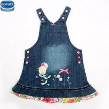 Noavtx H2706 détail bébé fille robe nouvelle enfants enfants sans manches floral de causalité fille robe nouveau cowboy robe parti filles robe