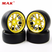 RC 1:10 On Road Car 6mm Offset 12mm Hex Accessory 4Pcs RC Car Tires 1/10 Drift Tires Wheel Hub Rim For HSP HPI 12mm hex rc car model kids toys accessory 1 10 flat rubber tires and wheel rim for hsp hpi rc on road racing car 10365 21006