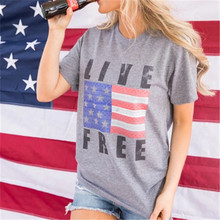 american flag print tshirt women tops korean clothes aesthetic womens clothing graphic t shirts japanese tee thanksgiving