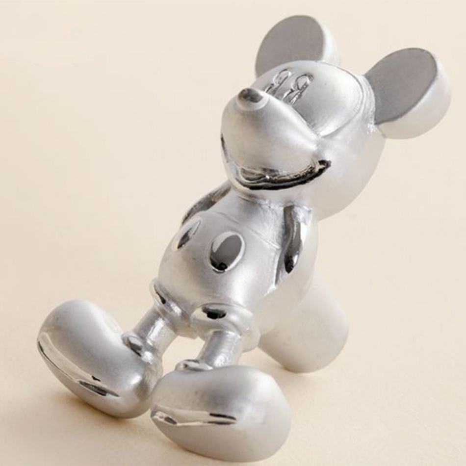 Cartoon Silver Mickey Mouse Furniture Handle Knobs Kids Bedroom ...