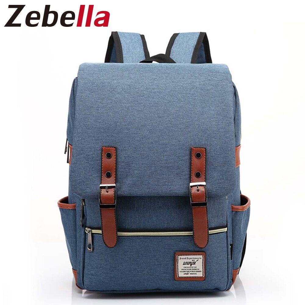 Zebella элегантный дизайн холст рюкзак женский студенты Bagpack Bookbag женщины рюкзак повседневная школьная сумка для подростков Bolsa Mochila