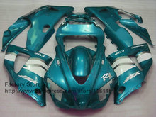 Custom Motorcycle injection mold ABS plastic fairings kit for YAMAHA 1998 1999 YZF R1 98 99 YZFR1 light blue body fairing kits