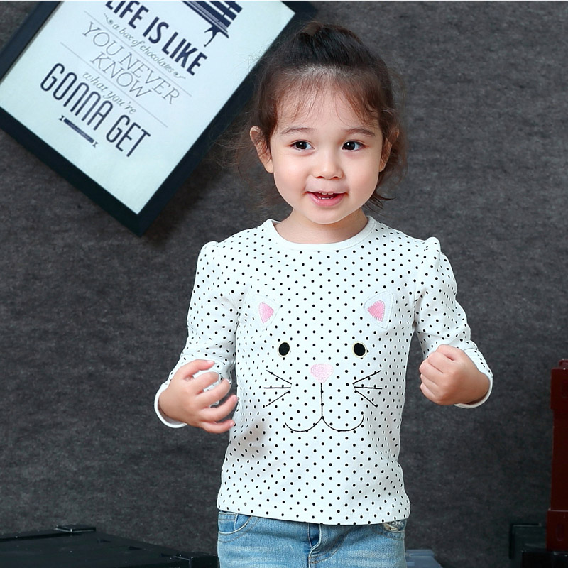 Jumpingbaby 2018 Girls T shirt Kids Clothes T shirts Camiseta Camisetas Todder T-shirt Kitty Tshirt Baby Roupas Menina Baby Girl