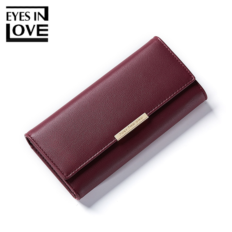 Eyes In Love Fashion Female Leather Wallet Women Cell Phone Pocket Multiple Credit Cards Purse For Girls Ladies Standard Wallets