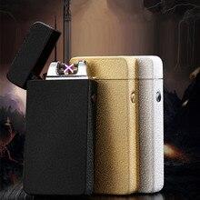 Vendita calda del USB Elettrico A Doppio Arco Torch Lighter Ricaricabile Antivento Plasma Più Leggero Sigaretta Doppia Thunder Impulso Croce Più Leggero