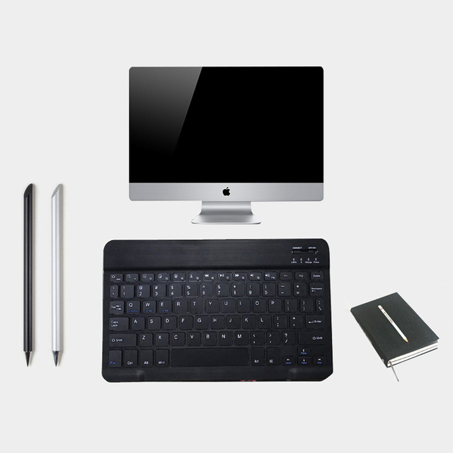 Slim Mini Bluetooth Wireless Keyboard For Android Tablet iPad Apple iPhone Smart Phone iOS Windows Portable Keyboard Ergonomic 2