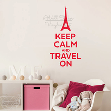 Keep Calm And Travel On Quote Wall Sticker Motivational Decal Removable Vinyl Lettering Q308