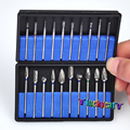 20Pcs/ 2 BoxDental Burs Drills Nitrate Tungsten Steel Material 2.35mm & Dental Lab Titanium Nitrate Carbide Burs