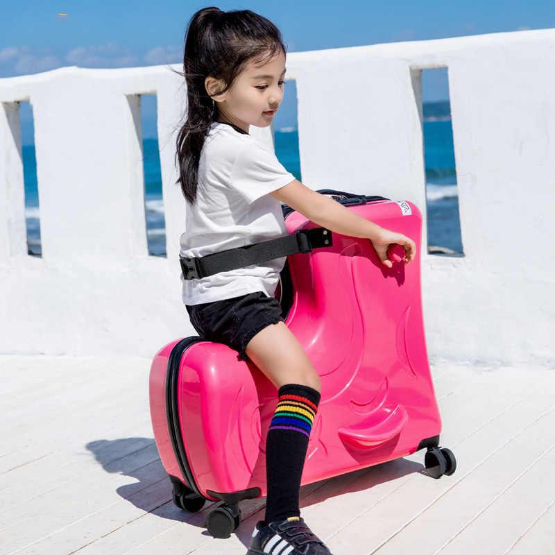 LEINASEN милый пони мультфильм Дети Сумки на колёсиках Spinner чемодан колеса студентов Многофункциональный тележка детская сумка