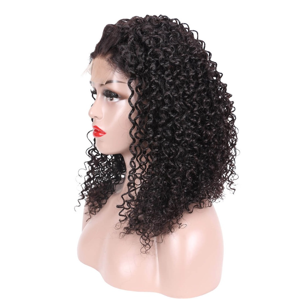 RealBeauty Kinky Curly Hair Wigs With Baby Hair Remy Indian Wigs For Women 4 4 U