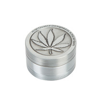Metal Vintage 40mm Leaf Magnetic Metal Herbal Herb Grinder Tobacco Cigar Grinder Mill Smoke Spice Crusher Maker Dropshipping
