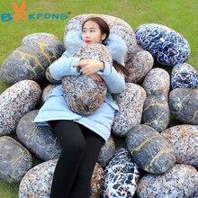 BOOKFONG 1PC Creative stone pebble cloth toys simulation stone cushion plush toys funny pillow wholesale