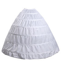 Ball Gown Wedding Accessories Bridal Crinolines Underskirt Bustle White 6 Hoops Petticoat