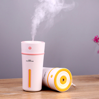 Air Ultrasonic Humidifier 300ml Portable Cup Car Cool Mist Humidifiers With Automatic Shut Off Night Light