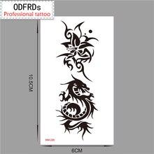 Temporary Tattoo Tatoo For Man Woman Waterproof Stickers Makeup Maquiagem Make Up Dragon Flower Tattoo