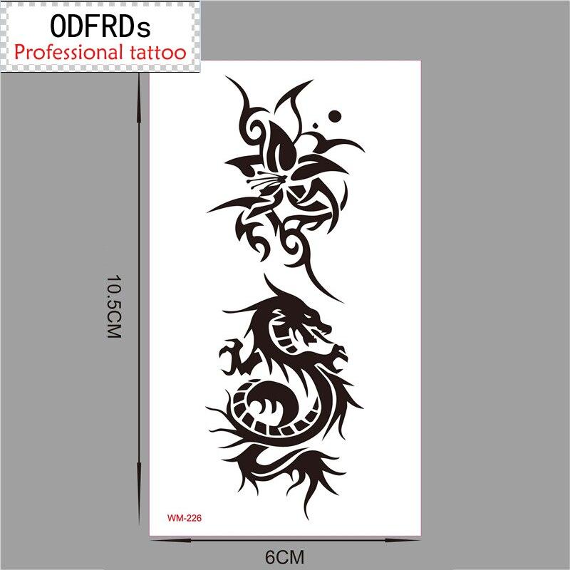 Dočasné tetování Tatoo pro muže Žena vodotěsné samolepky make-up maquiagem make up Dragon flower tattoo wm226