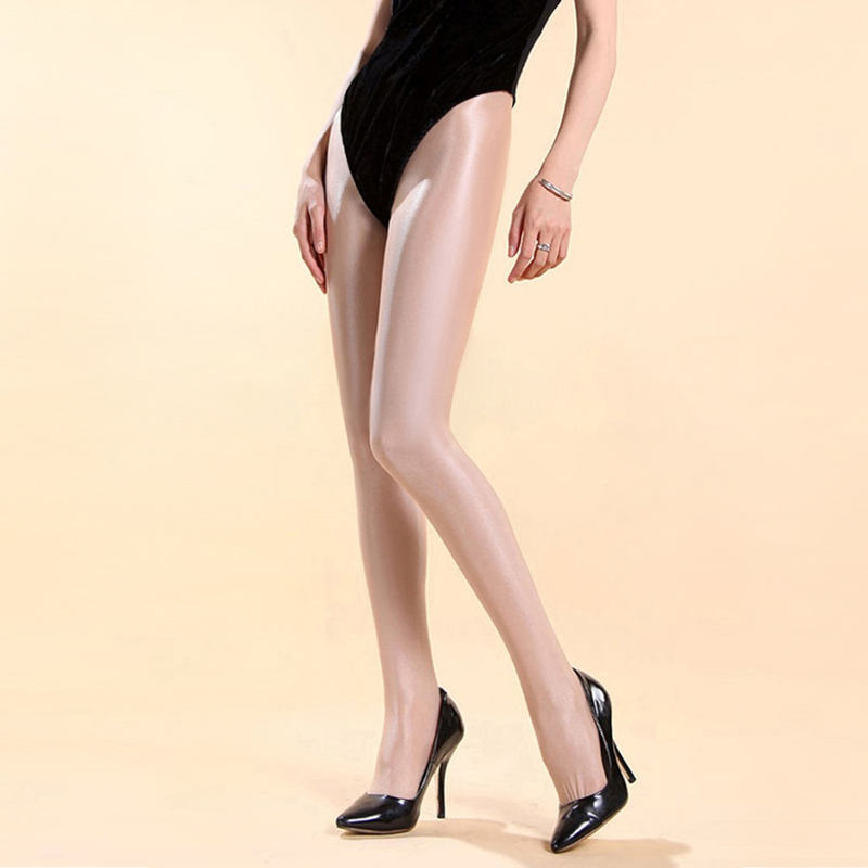 Jazz Dance Costumes Sexy Nightclub Female Singer Stage Beyonce Performance Thick Shiny Pantyhose Reflective Stockings DN1661