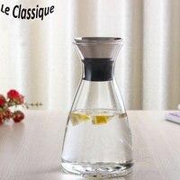Denmark/Straight Style 1000ml Heat Resistant Glass Water Bottle Ice Juice Water Kettle Pot