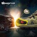 Modyf hombres puntera de acero zapatos de trabajo de seguridad de malla transpirable casual recorrido al aire libre senderismo botas calzado de protección a prueba de pinchazos