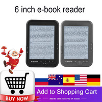 Portable e book reader E Ink 6 inch E reader 800x600 Resolution Display 300DPI Blue Cover 16GB 8GB 4GB eBook