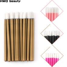 50 sztuk jednorazowe rzęsy pędzel rzęs do czyszczenia tusz do rzęs aplikator pędzle do makijażu do przedłużania rzęs