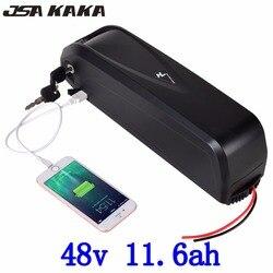 48 V 11.6AH e-bike E rower Haillong akumulator litowo-jonowy akumulator litowo-jonowy do Panasonic komórki z 5 V USB rower elektryczny z 30A BMS + ładowarka
