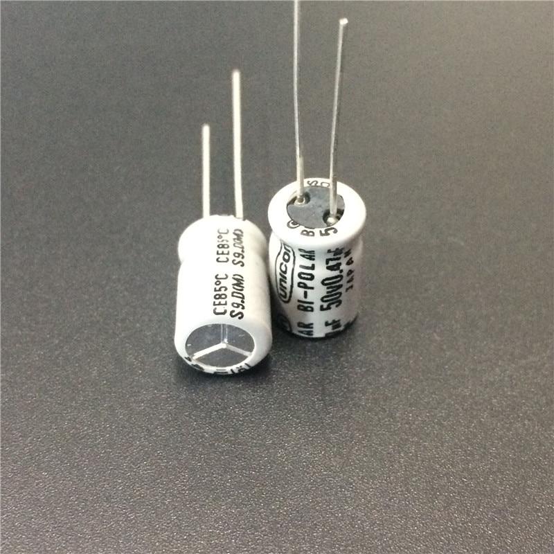 10pcs 0.47uF 50V Japan UNICON 8x11.5mm 50V0.47uF Bipolar Non Polarity Capacitor