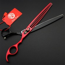 Top Quality Japan 440C Professional 8 Inch Pet Scissors For Dog Grooming Thinning Shears Sharp Edge Animals Hair Cutting Tools