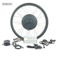 Vender Kit de conversión de bicicleta eléctrica 48V 1500W para nieve gruesa rueda trasera giratoria de 20