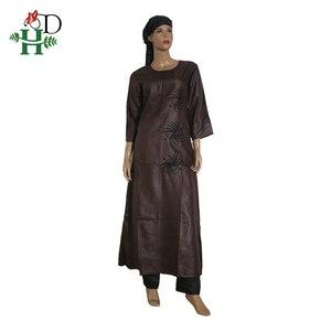 Image 5 - 3 pièces ensemble 2020 mode africaine vêtements pour femmes robes pantalon écharpe ensemble bazin riche robe broderie africaine vêtements S2946