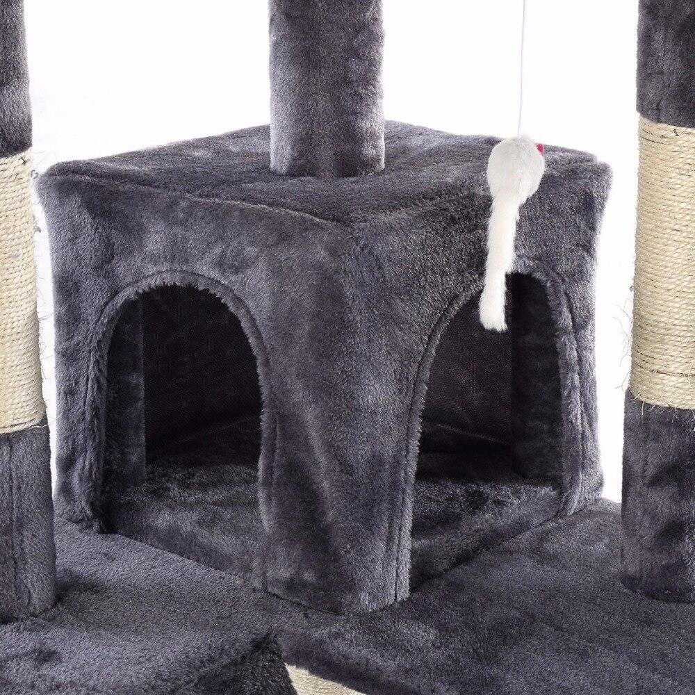 170 см Когтеточка для кошек кровать для домашних животных лазание пост Дерево Игрушка центр деятельности игровой полюс PS5793GR - 4