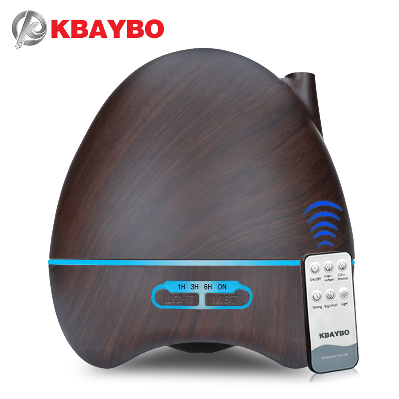 500ml Aroma Essential Oil Diffuser Ultrasonic Air Humidifier 7 Color Changing LED lamp Whole House Remote Control 500ml remote control aroma essential oil diffuser ultrasonic air humidifier with 4 timer settings 7 color changing led lamp k198
