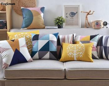 Yarda Cojines.Funda De Almohada Escandinava Almohadas Decorativas Cojines Azules