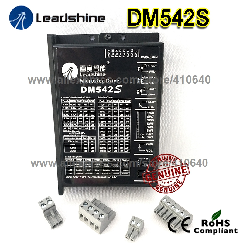 New Arrival Leadshine <font><b>DM542S</b></font> Updated from DM542 WITH STRONGER ANTI-INTERFERENCE FUNCTION MORE STEADY Stepper Drive 48VDC 4.2A image