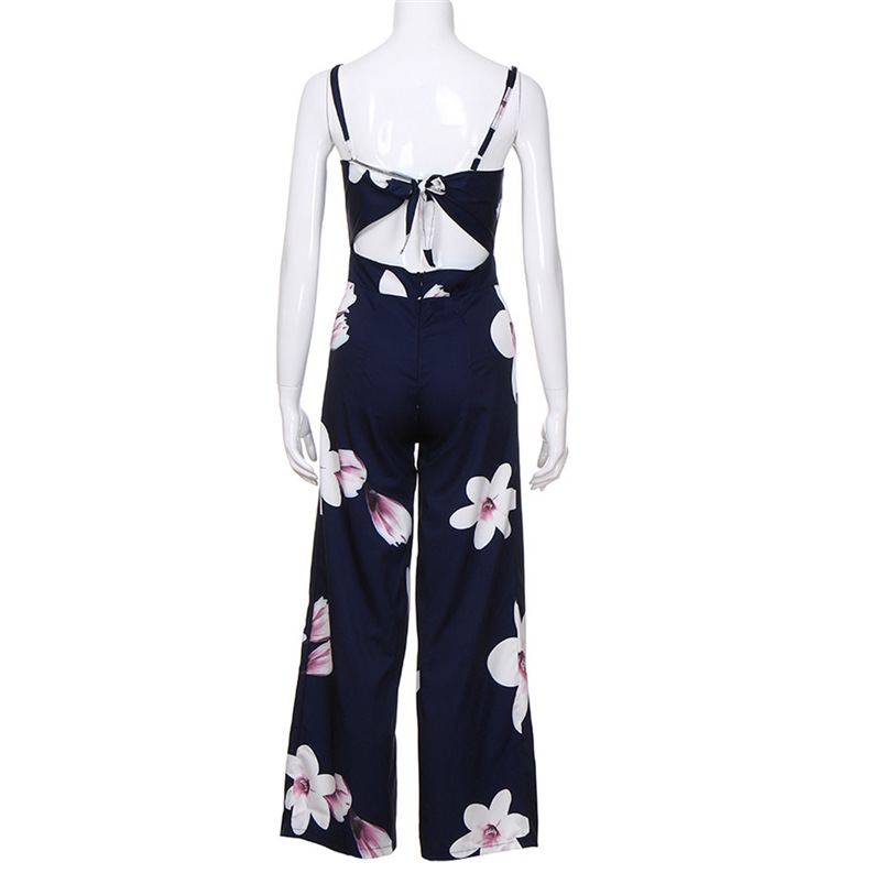 2018 Women Rompers Sexy Party Beach Jumpsuits Summer Floral Long Bodysuit Casual feminino Playsuit Whloesale #FY05 (9)