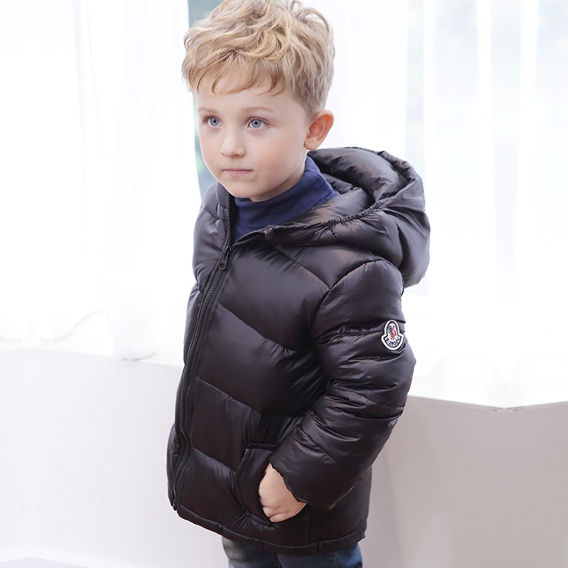 ФОТО Newest Winter Children Girls boys Thick Jackets for Children Winter Coat Kids Outerwear Baby Jacket Hooded Extra forehead Warm