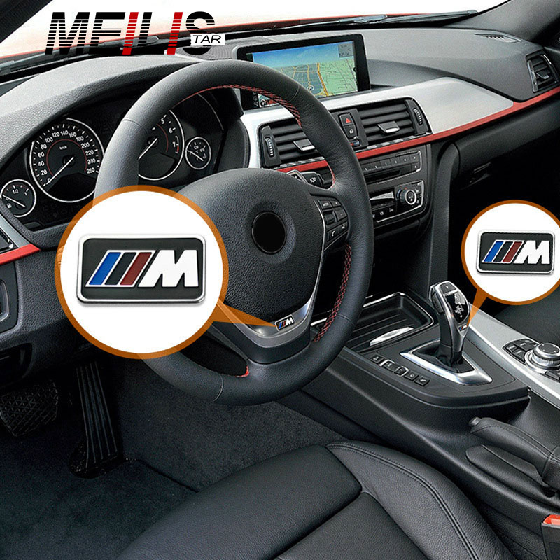 Bmw Z4 Steering Wheel Cover: IDrive Car Multimedia Buttons Cover M Emblem Stickers For