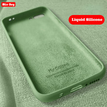 Original Liquid Silicone Luxury Phone Case For Huawei Honor 8 9 10 Lite 8X Max 20 Pro 20i Cute Candy Color Soft Cover