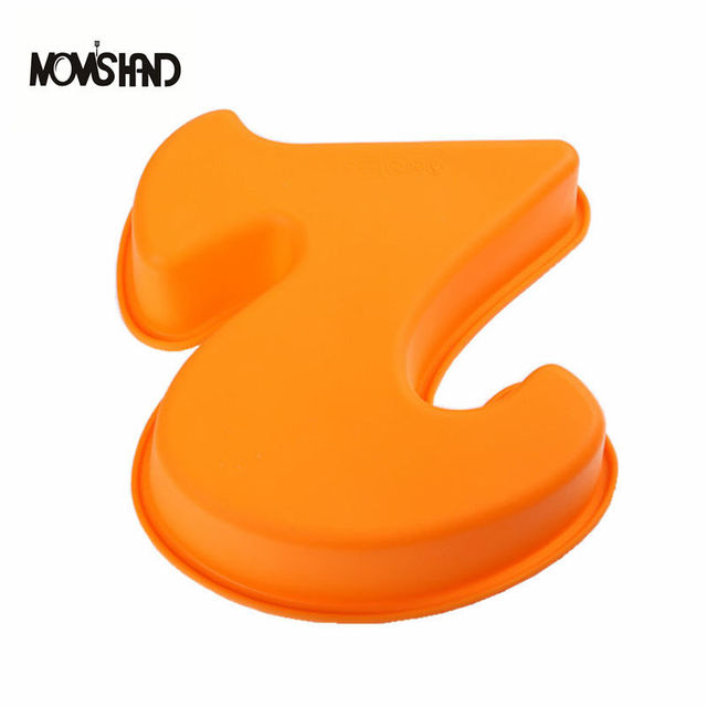100 Food Grade Large Silicone Number 2 Cake Mould Pan Baking Tin Birthday Anniversary 2nd