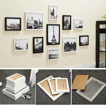 11 Pcs Duvar askılı fotoğraf çerçevesi Set Aile Resim Ekran Modern Sanat Ev Dekor Için Koridor Yatak Odası Oturma oda duvar dekorasyonu