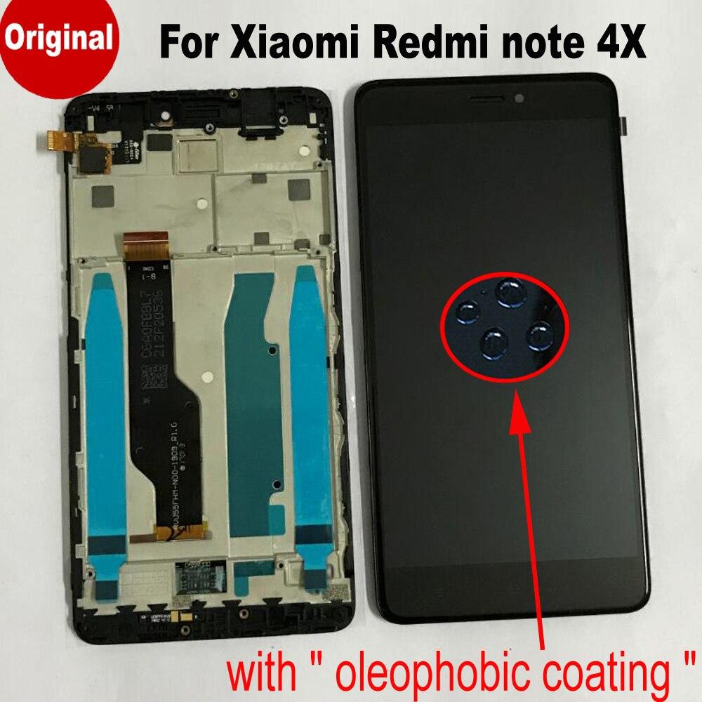 LCD d'origine affichage à L'écran tactile digitizer Assemblée avec cadre Pour Xiaomi redmi note 4X note 4 Mondial Version Snapdragon 625