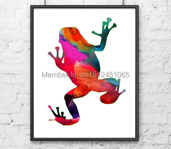 New kids children wall art decor abstract Frog wall art picture animal printed painting living room  sc 1 st  AliExpress.com & New kids children wall art decor abstract Frog wall art picture ...