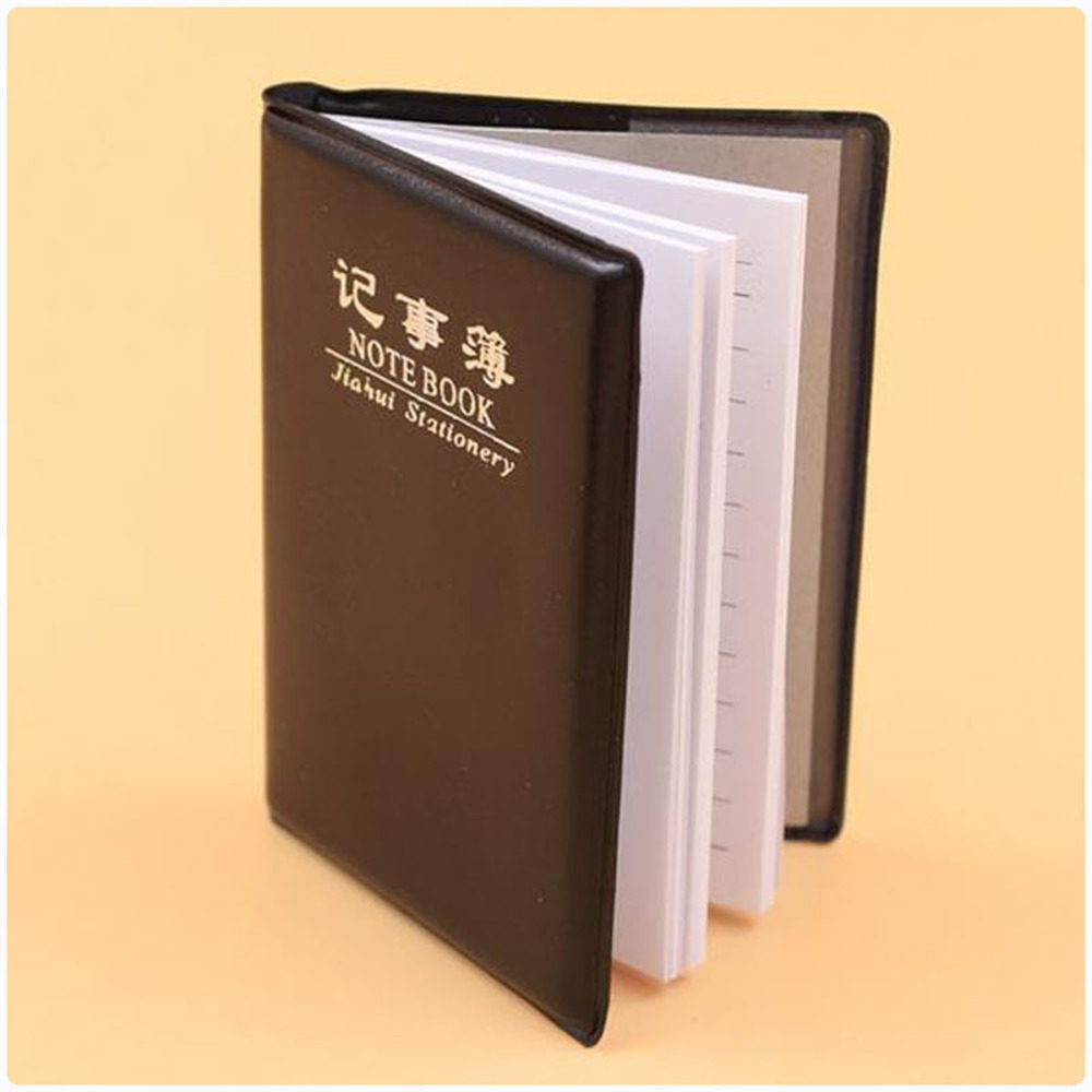 pockets portable leather face business office mini Notebook Journal Diary Planner Notepad Gift Stationery цена 2017
