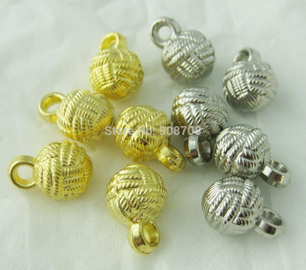 H0229 ABS silver&Gold plating Buttons 10mm Round Shirt Buttons 100pcs Craft Button For Sewing