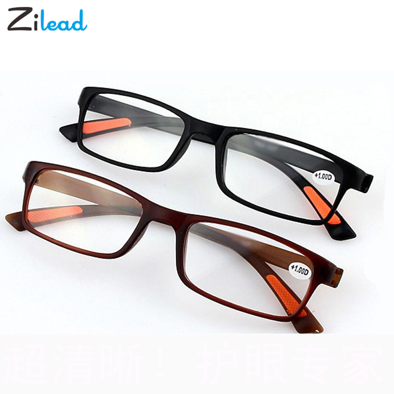 Zilead Ultralight TR90 Women Men Clear High-precision Reading Glasses Resin Presbyopia Parents Gifts Sturdy Eyeglasses Eyewear