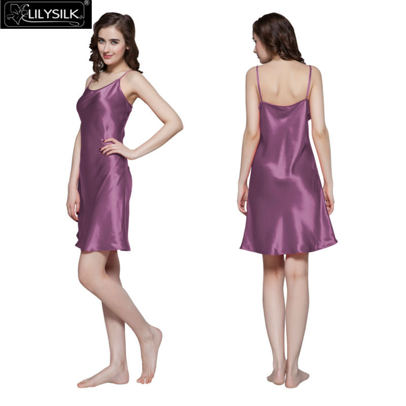 1000-violet-22-momme-short-feminine-silk-nightgown