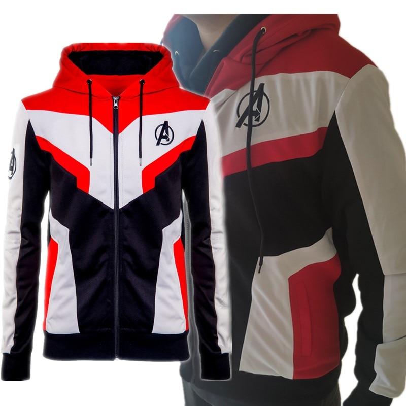 Movie Avengers Endgame Infinity War Quantum Realm Cosplay Costume Hoodies Sweatshirts Embroidery Coat Jacket-in Hoodies & Sweatshirts from Men's Clothing    1