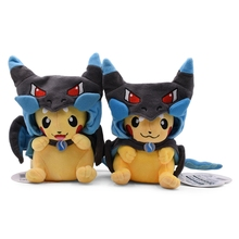 23 Style Pikachu Cartoon Plush Doll Toys Anime Pikachu Cosplay Charizard Vulpix Soft Stuffed Toy For Children Baby Best Gift стоимость