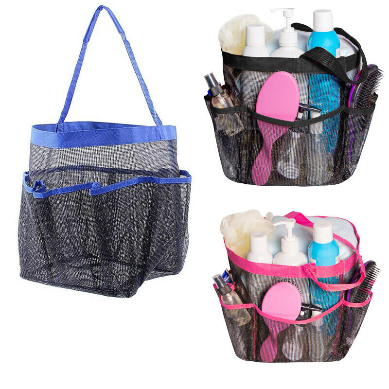 Packable Mesh Shower Bag Caddy Bathroom Carry Tote Toiletry Bath Organizer  Bath Toiletry Caddy Mesh Shower Tote Quick Dry Bag